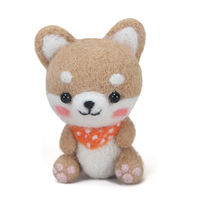 Wool felt pokes to pass the time adult handmade diy material package to make Shiba Inu cat small animal doll