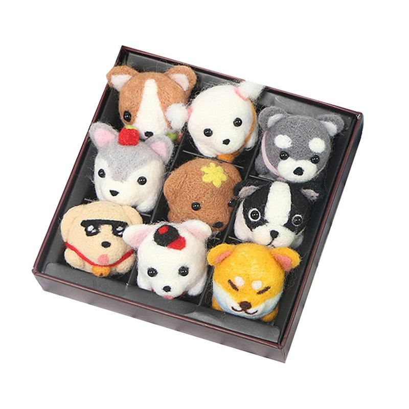 羊毛毡diy材料包戳戳乐盒套装小狗柴犬动物玩偶手工制作猫咪挂件