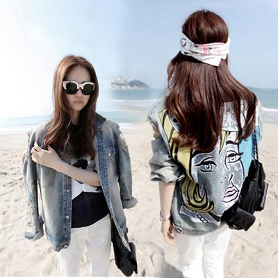 牛仔外套女短款修身弹力韩版百搭学生长袖女士牛仔衣秋季外套女