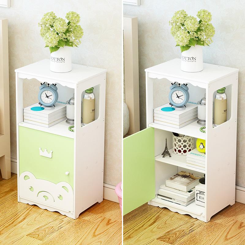 床头柜储物柜白色现代简易
