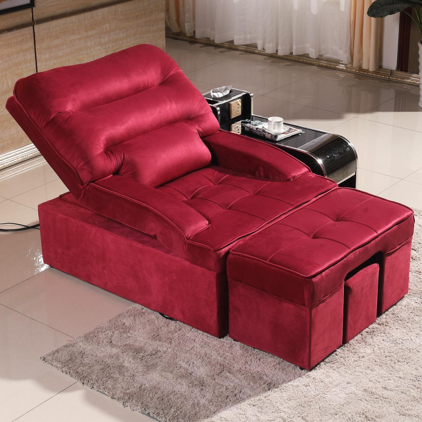 电动足浴足疗沙发美甲美睫修脚沙发美容桑拿洗浴沐足按摩躺椅沙发