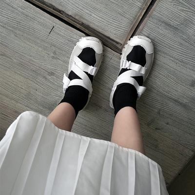 2018 袜筒慢跑鞋韩国ulzzang运动鞋忍者鞋高帮休闲女鞋小白鞋