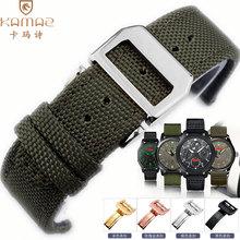 尼龙帆布手表带配件代用IWC万国大飞行员葡萄牙真皮折叠扣22mm男