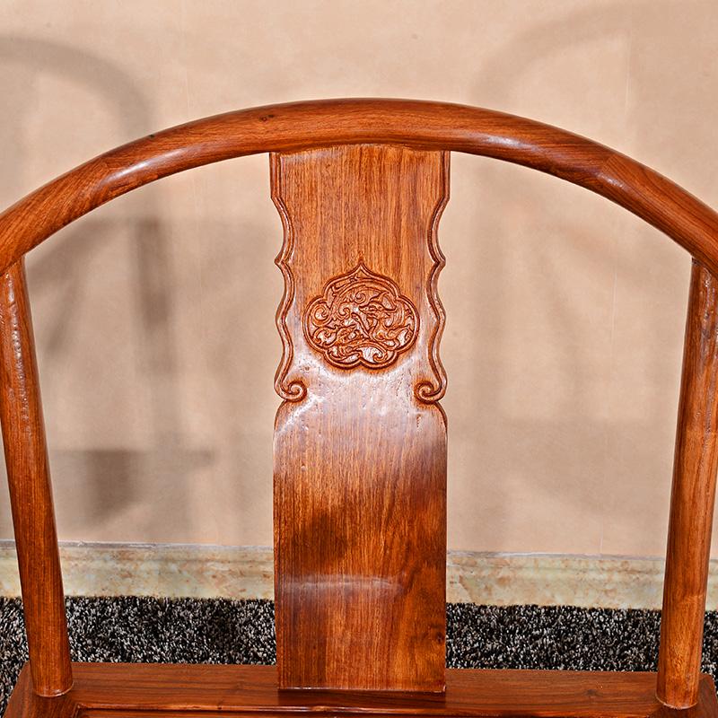 太师椅三件套 花梨木围椅靠背椅刺猬紫檀实木中式太师椅红木圈椅