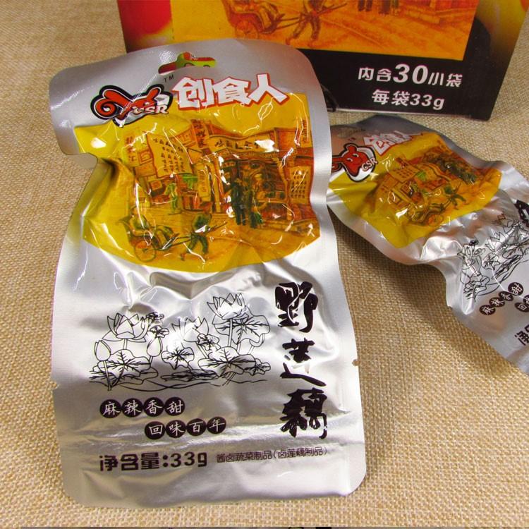 麻辣零食 创食人 野莲藕干香辣藕片 办公室休闲零食品