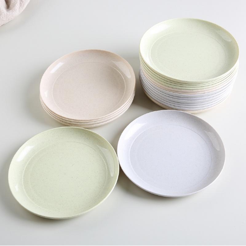 竹纤维餐具骨碟吐骨头碟塑料渣盘垃圾盘家用餐桌创意小碟子菜碟