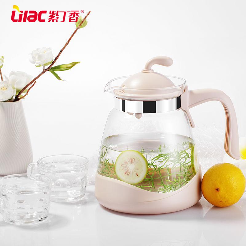 耐高温玻璃冷水壶大容量家用凉水壶泡茶壶扎壶果汁壶