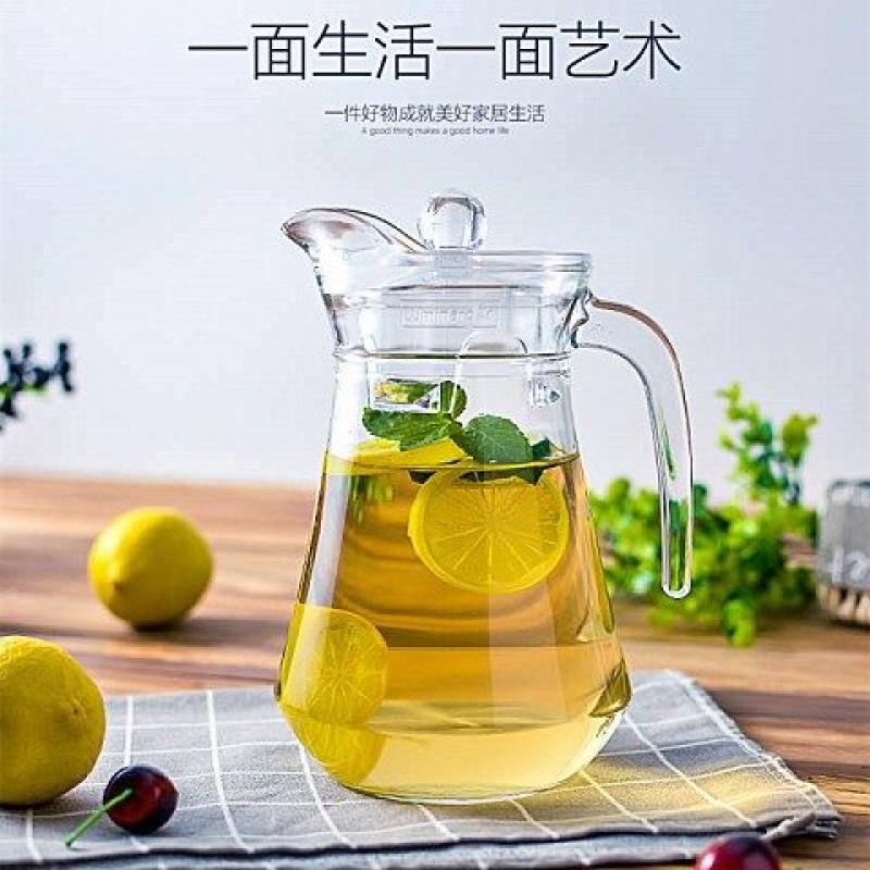 加厚壶透明玻璃扎壶带盖果汁壶防爆家用大容量冷水壶