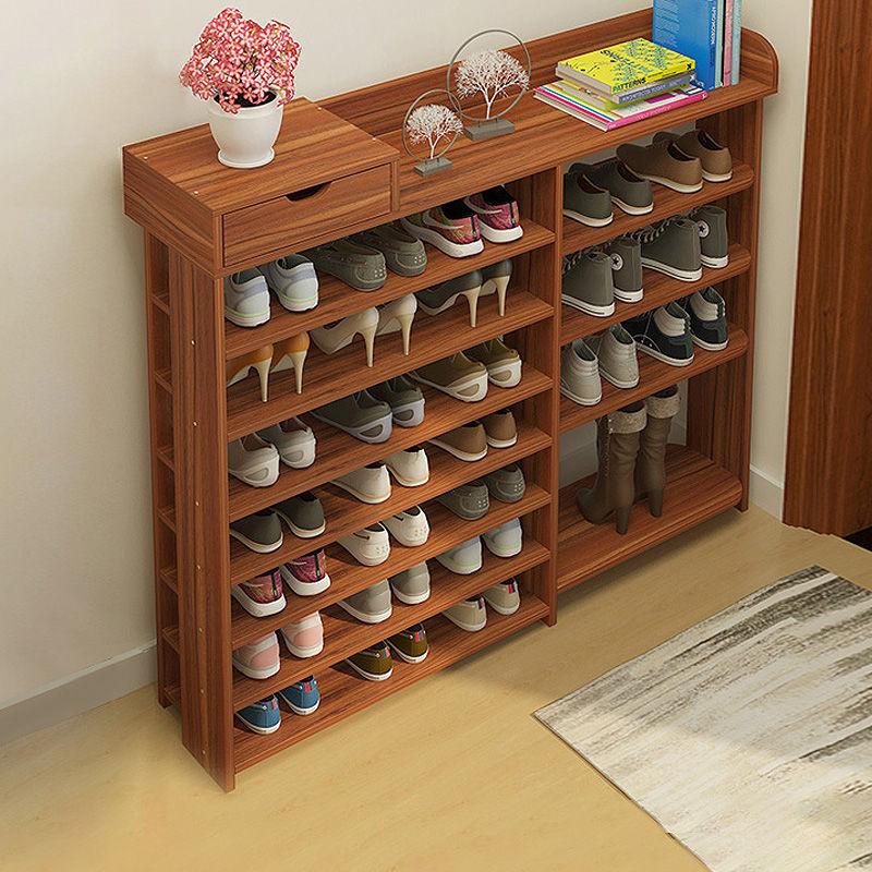 鞋架 简易家用门口 省空间多功能经济鞋架多层仿实木鞋架子收纳架