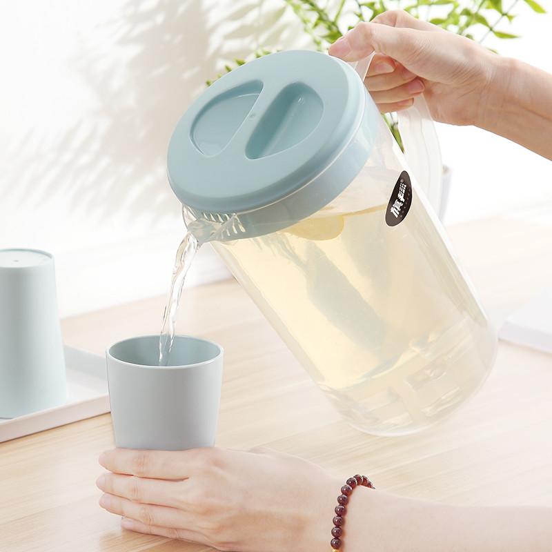 耐高温大容量塑料冷水壶凉水壶家用凉水杯套装塑料壶果汁壶茶壶