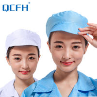 Anti-static hat clean room work cap labor insurance hood dust-proof small work hat big work cap female dust cap male