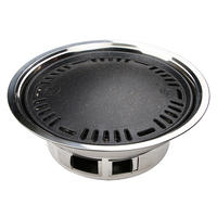 Smokeless BBQ Home Charcoal Round Small Grill Outdoor Korean Grill Gasoline Commercial Grill Charcoal