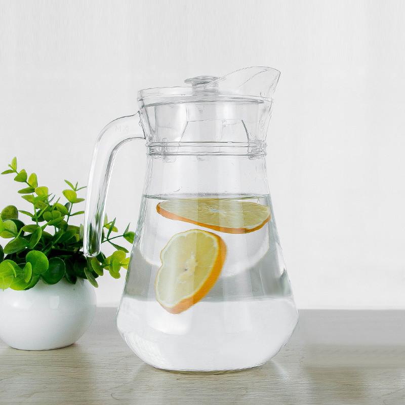 6只透明玻璃杯套装带把冷水壶凉水杯子无盖家用果汁壶扎壶大容量