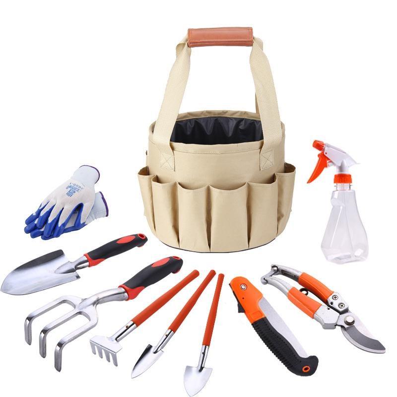 园林园艺工具包帆布包组合套装铝合金铲园林剪刀水桶布包多功能袋