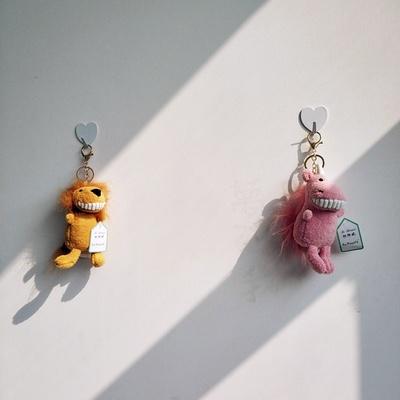 可爱猪搞怪萌小兔子卡通书包挂件ins潮日系小号钥匙链小仙女布偶