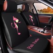 卡通汽车坐垫四季通用亚麻布艺全包围座套网红座椅套夏季专用座垫图片