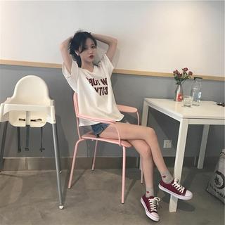 夏季七分中袖t恤女装中学生韩版bf风宽松百搭休闲短袖上衣服潮衫