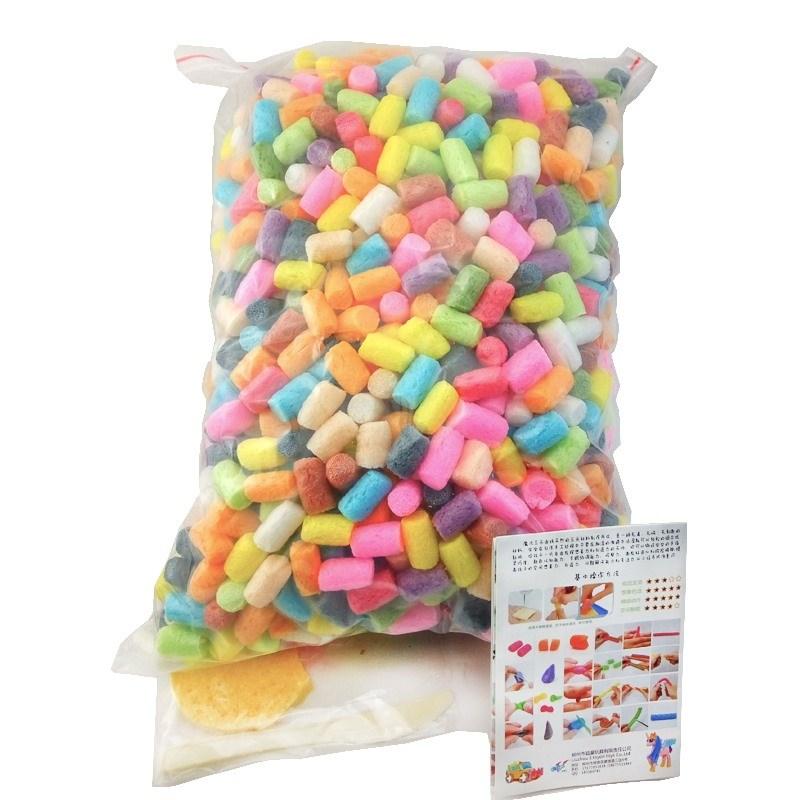 解压材料包彩色美工区手工制作玉米粒粘粘玩具美术课幼儿园区域手