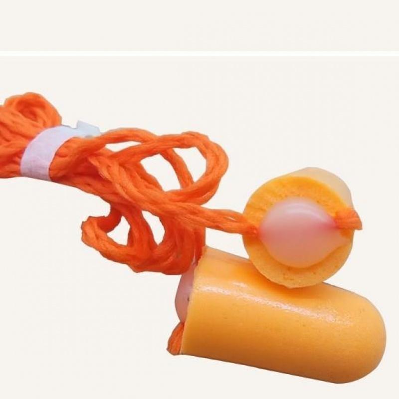 一次性耳塞防噪音冬天海绵防滑儿童护耳连线柔软工业可爱午休泡沫