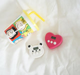 Ins cute bear love mini portable timer kitchen baking reminder student to do the timer