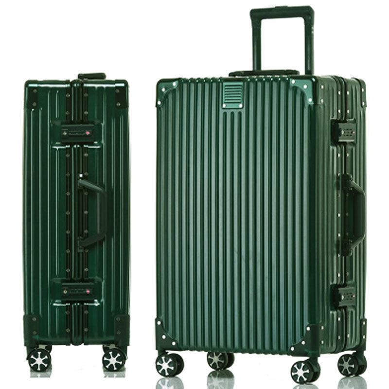 铝框拉杆箱复古行李箱女24寸旅行箱包密码箱26皮箱子