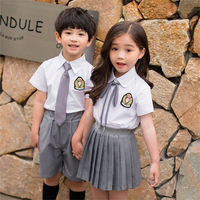 Primary school uniforms summer short-sleeved British wind kindergarten clothing sixty-one costumes children's graduation class clothing suit