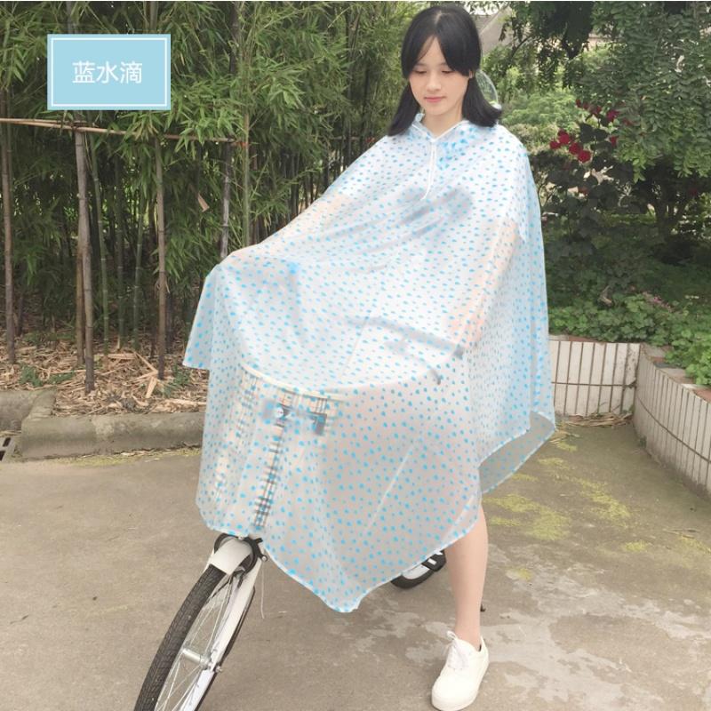雨衣自行车单车山地车男女电动车电瓶车透明加大加厚雨披骑行学生