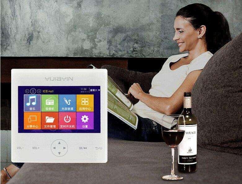 86面板智能WIFI背景音乐主机 支持手机和主机同屏互动