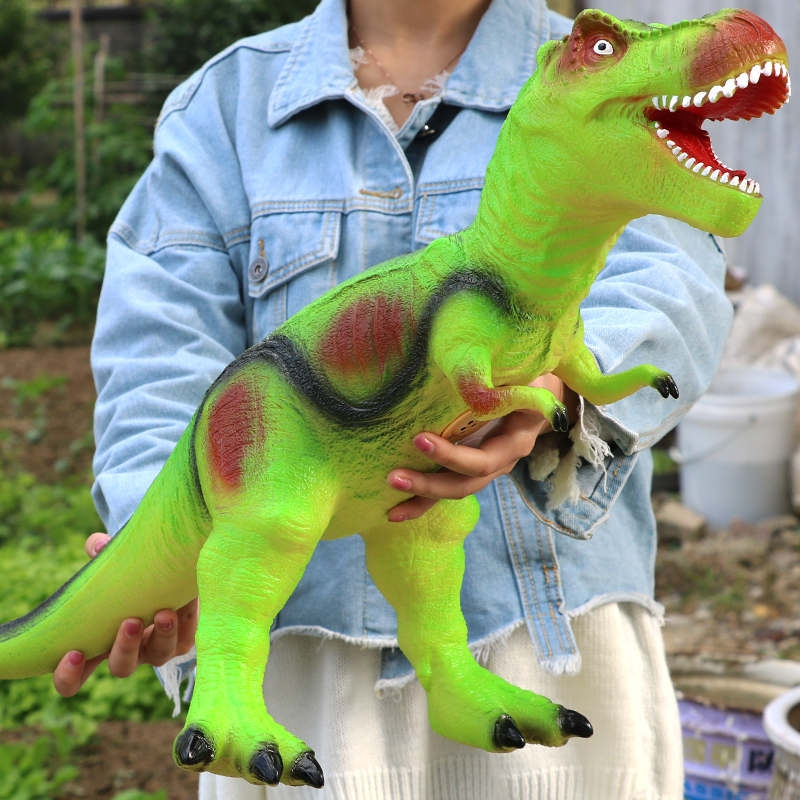 仿真软胶大号恐龙玩具电动霸王龙动物模型套装塑胶儿童4岁6男孩