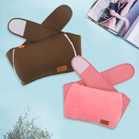 Warm waist treasure belt cloth set hot water bottle cover charging plush flannel jacket warm palace warm water bag hand warmers