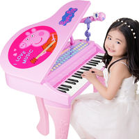 Pig Peggy young children's electronic keyboard beginner girl 1-3-6 gift Beverend baby Peggy piano toy