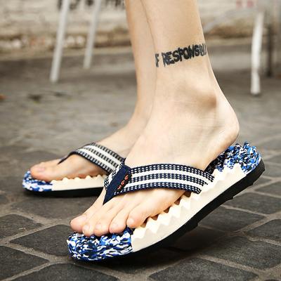 夏天男拖鞋男人字拖男凉拖鞋防滑软底时尚外穿按摩迷彩沙滩潮夏季