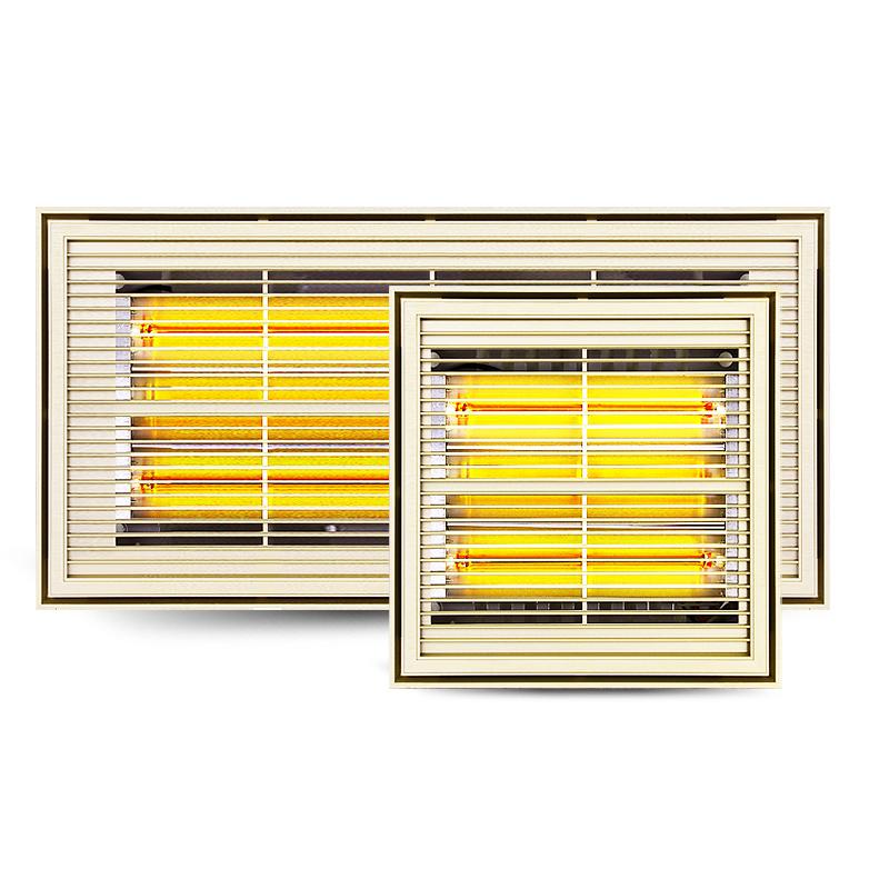 法西蒙集成吊顶黄金管浴霸 超薄6CM钛晶管卫生间取暖器嵌入式光波