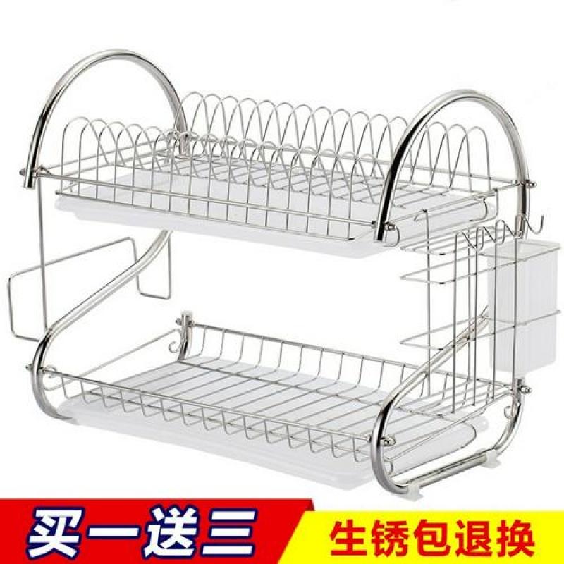 不锈钢色碗架沥水碗架盘子凉晾放控水架厨房置物架装碗筷收纳盒箱