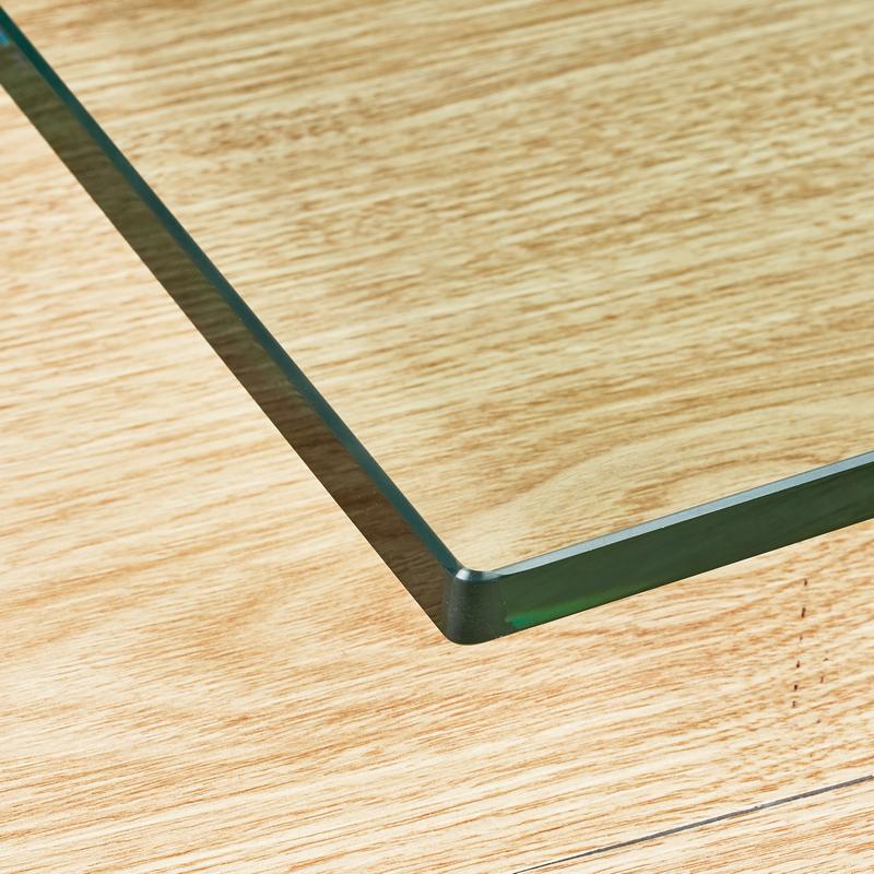 中国茶几书桌玻璃桌面垫板钢化玻璃定做餐桌台面圆长方形异形定制