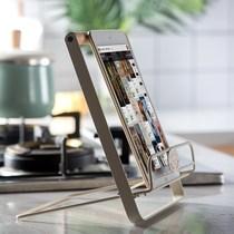 通用手柄创意桌上简易看电影立式便捷承重简约桌面收纳折叠菜谱架