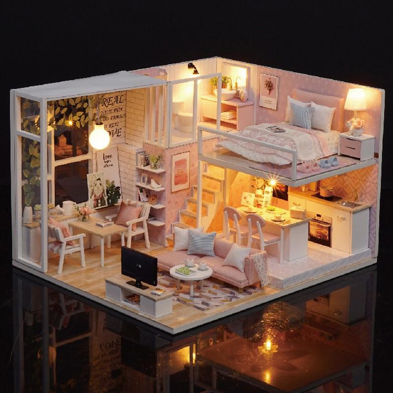 女孩子喜欢的东西 浪漫意小屋拼装玩具成人公主房迷你房间模型房