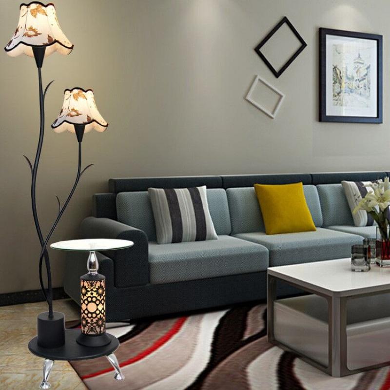 落地灯客厅茶几简约现代卧室护眼LED遥控立式台灯创意欧式沙发灯