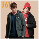361 Degree Men's Wear Short-style Cotton Clothes for Warming Fall and Winter of 2019 361 Men's Hat and Leisure Sports Cotton Coat