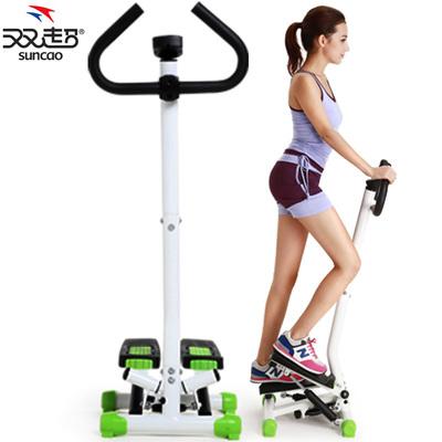 双超踏步机家用正品静音扶手瘦腿登山脚踏运动减肥多功能健身器材