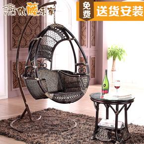 依藤乐家用阳台欧式吊篮摇篮吊椅客厅成人秋千单人室内真藤椅摇椅