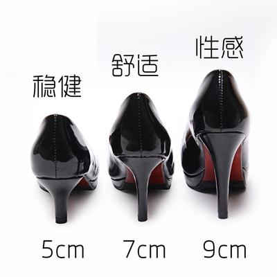 早春细跟黑色职业高跟鞋女防水台中跟正装单鞋圆头5cm舒适工作鞋