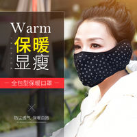 Winter warm mask windproof cold wind earmuffs male electric motorcycle half face riding face riding mask