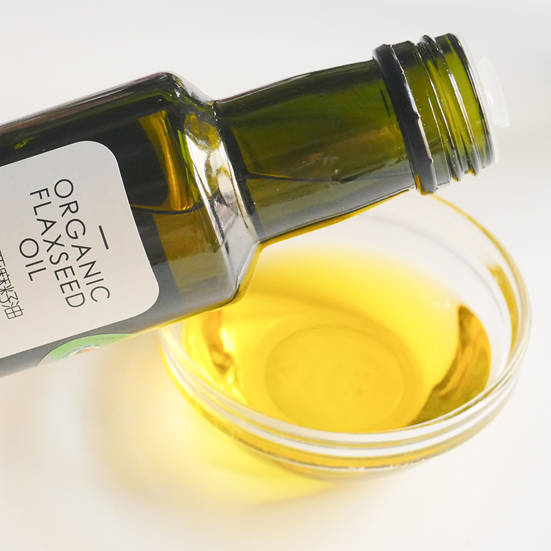 生活选集有机亚麻籽油250ml一级宝宝辅食油冷榨婴儿食用油亚麻酸