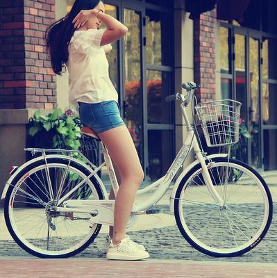 飞鸽自行车24寸26寸成人男女式淑女学生城市代步通勤轻便复古单车