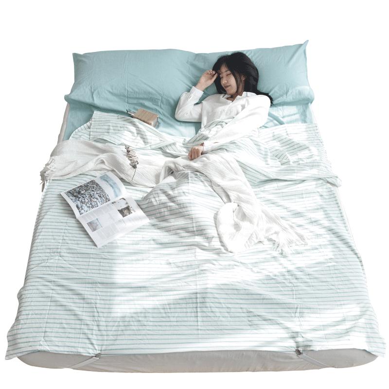 酒店成人隔脏睡袋旅游旅行宾馆出差便携式纯棉床单被套防脏全棉薄