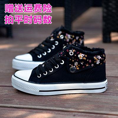 2019春季低帮帆布鞋女布鞋子碎花学生鞋板鞋运动鞋透气单鞋韩版潮