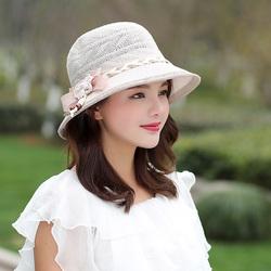 2018春夏季草帽女遮阳防晒帽子出游拍照帽时尚透气骑车太阳帽户外