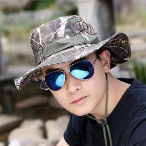 诗玛迩 帽子男夏天登山帽迷彩渔夫帽 情侣户外钓鱼帽太阳帽遮阳帽