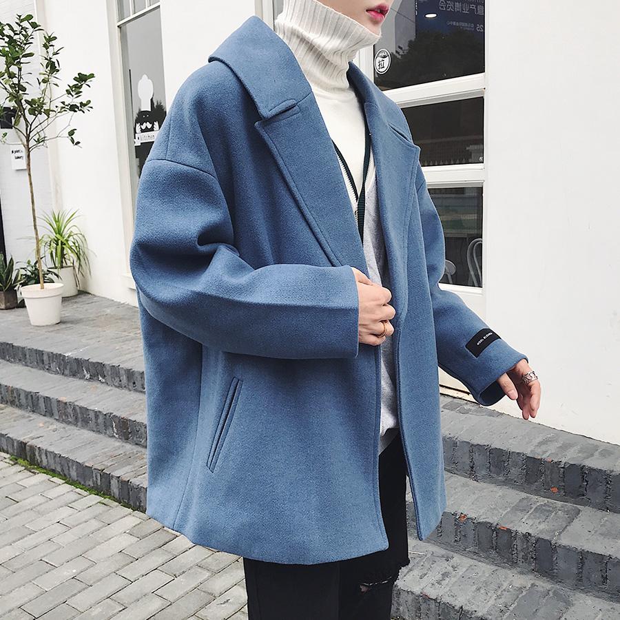 男生韩版加厚风衣